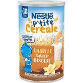 Nestlé ptite céréale biscuité vanille 400g dès 12mois