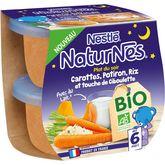 Nestlé Nestlé Naturnes bol carottes potiron et riz bio dès 6 mois 2x190g