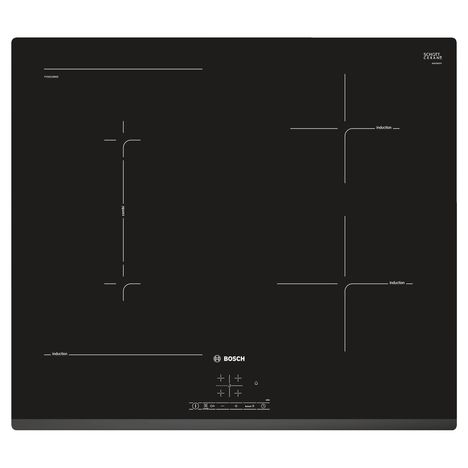 BOSCH Table de cuisson à induction PVS631BB5E, 60 cm, 4 Foyers