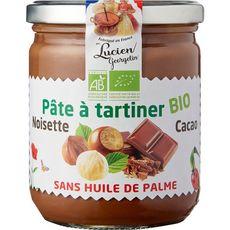 LUCIEN GEORGELIN Pâte à tartiner bio aux noisettes et cacao 400g