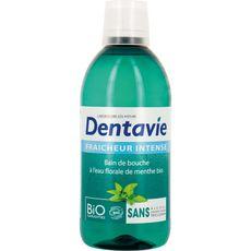 Dentavie Bain de bouche fraicheur à l'eau florale de menthe bio 500ml