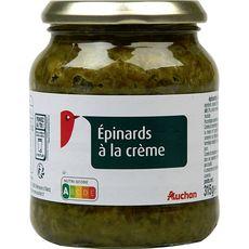 AUCHAN Epinard à la crème bocal  315g