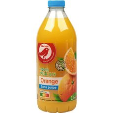 Auchan pur jus d'orange sans pulpe 1,5l