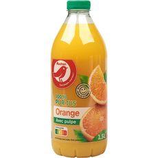 Auchan Pur jus d'oranges avec pulpe 1,5L
