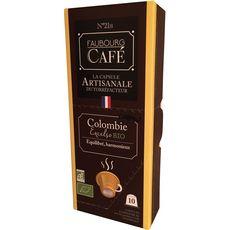 FAUBOURG CAFE Capsules de café bio de Colombie compatibles Nespresso 10 capsules 53g