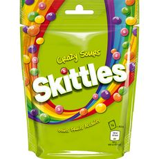 Skittles crazy sours goût fruits acidulés 174g