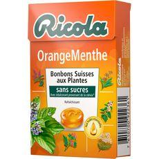 Ricola sans sucre orange menthe boite 50g