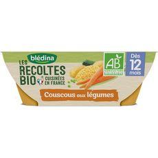 Blédina couscous aux légumes bol bio 2x200g dès 12mois