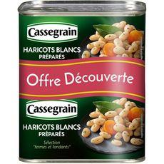 CASSEGRAIN Cassegrain Haricots blancs préparés, sélection fermes et fondants 2x250g 2x250g