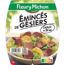 FLEURY MICHON Fleury Michon emincés de gésiers 2x75g 2x75g 2x75g