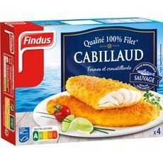 Findus cabillaud pané qualité 100% filet  x4 -400g