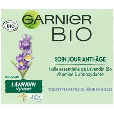 GARNIER BIO Soin jour anti-âge lavandin tous types de peaux même sensibles 50ml