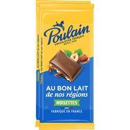 Poulain Poulain Tablette de chocolat au lait et noisettes 2 tablettes 2x95g