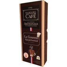FAUBOURG CAFE Capsules de café le gourmet 100% arabica compatibles Nespresso 10 capsules 53g