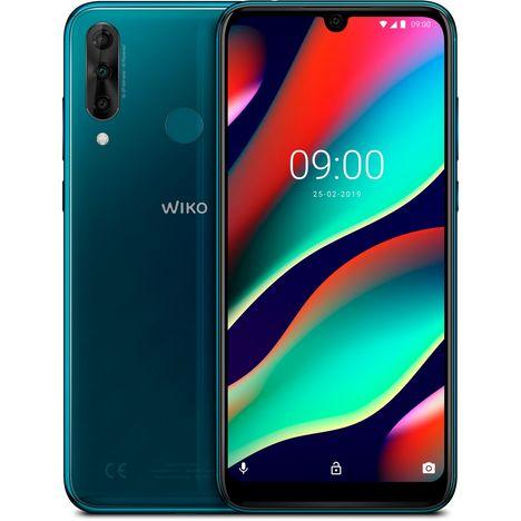 WIKO Smartphone VIEW3 PRO - 64 Go - Bleu foncé - Ocean - 6.3 pouces - 4G