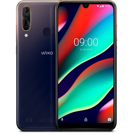 WIKO Smartphone VIEW3 PRO - 64 Go - Anthracite - Nightfall - 6.3 pouces - 4G
