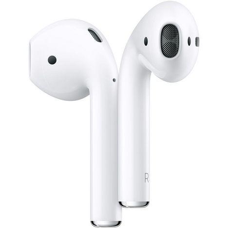 APPLE Ecouteurs sans fil AIRPODS 2 + Etui de charge sans fil - Blanc
