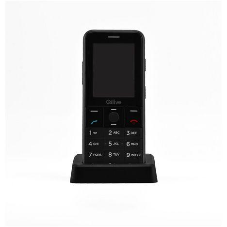 QILIVE Téléphone portable Senior 891226 - Double SIM - Noir