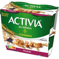 ACTIVIA céréales Yaourt bifidus muesli 4x120g