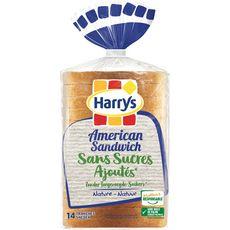 Harry's Pain de mie nature sans sucres ajoutés avec croûte 550g