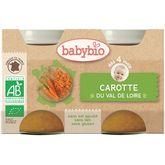 Babybio carottes des landes 2x130g dès 4mois