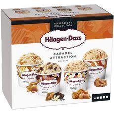 Häagen-Dazs Mini pot de crème glacée caramel collection 365g