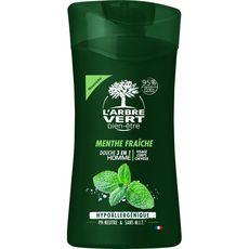 L'Arbre Vert Gel douche homme visage corps et cheveux menthe fraîche 250ml