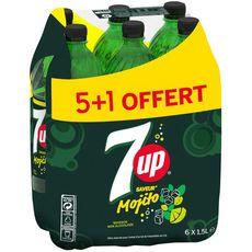 7UP 7 up Boisson gazeuse aux extraits de citron arôme mojito 6x1,5l +1 offerte 5x1,5l