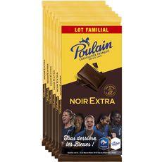 Poulain chocolat noir extra 6x100g