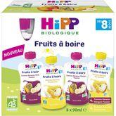 HiPP gourdes compotes fruits à boire bio 8x90g dès 8mois