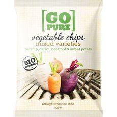 Go Pure chips de légumes bio 90g