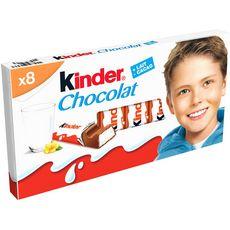 KINDER Chocolat bâtonnet 8 pièces 100g