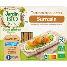 JARDIN BIO ETIC Tartines craquantes sarrasin sans gluten 150g