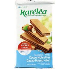 KARELEA Karelea Gaufrettes cacao noisette sans sucres ajoutés 200g 200g