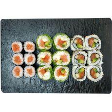 SUSHI GOURMET California & maki au saumon mix 18 pièces 365g