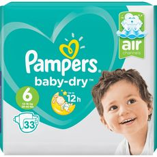 PAMPERS Baby-dry géant couches taille 6 (13-18kg) 33 couches
