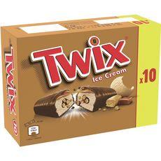 TWIX Barre glacée au caramel, biscuit et enrobage cacao 10 pièces 342g