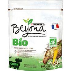 BEYOND Croquettes poulet riz bio pour chien 800g