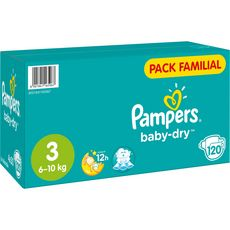 Pampers Baby-dry pack familial couches taille 3 (6-10kg) x120