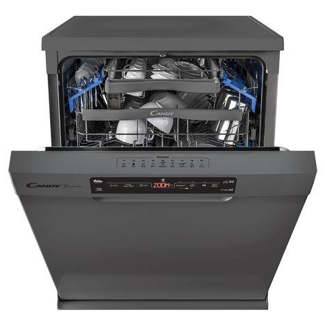 CANDY Lave-vaisselle pose libre CDPM 2D522PX, 15 couverts, 60 cm, 43 dB, 9 Programmes