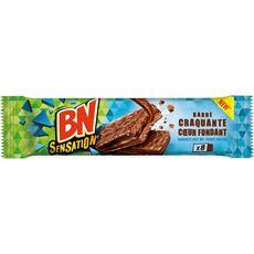 BN Sensation biscuits barre craquante cœur fondant 8 biscuits 197g