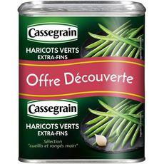 CASSEGRAIN Haricots verts extra fins cueillis rangés mains Offre découverte 2x220g