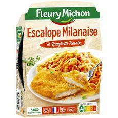 Fleury Michon escalope à la milanaise spaghetti 300g