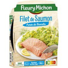 Fleury Michon saumon et purée de brocolis 300g