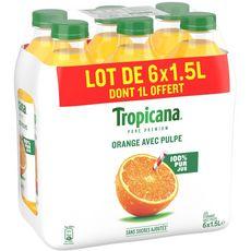 Tropicana jus d'orange avec pulpe 6x1.5l dont 1l offert