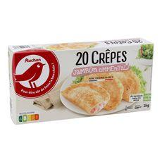 AUCHAN Crêpe jambon emmental 20 pièces 1kg