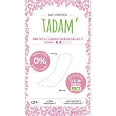 TADAM Tadam Protège-lingerie dermo-sensitif 100% coton bio normal x24 24 pièces