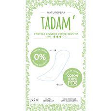 TADAM Tadam Protège-lingerie dermo-sensitif 100% coton bio long x24 24 pièces