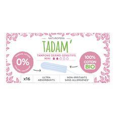 TADAM Tadam Tampons en coton bio sans applicateur ultra-absorbant mini x16 16 tampons