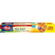 ALBAL Film alimentaire 2en1 réfrigérateur et micro-ondes  20m +25% offert